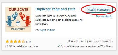 """Plugin """"Duplicate page and Post"""""""