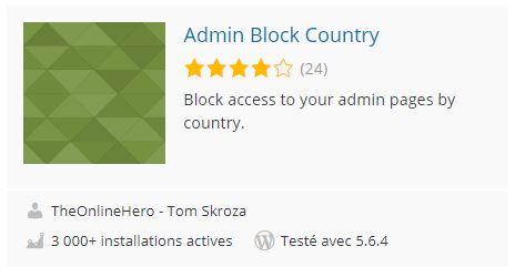 Admin Block Country