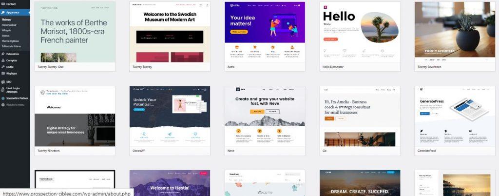 Les plugins et les thèmes avec WordPress